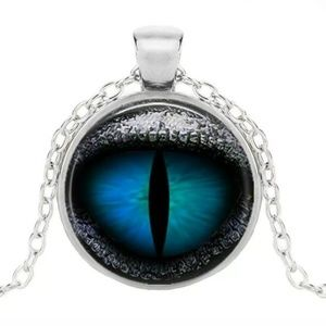 Dragon Eye Pendant & Necklace/Chain Vintage